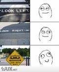 Guck nach links, jetzt nach rechts....